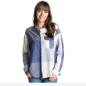 {HP} NWT! Roxy Plaid Button Down Shirt
